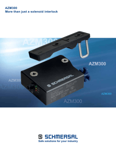 AZM300 More than just a solenoid interlock