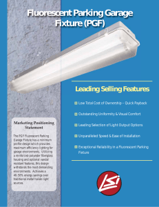 Fluorescent Parking Garage Fixture (PGF)