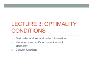 LECTURE 3: OPTIMALITY CONDITIONS