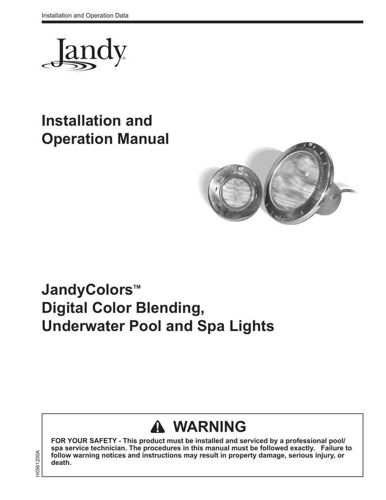 to View the JandyColors Installation Manual Jandy Pool Light Wiring Diagram on