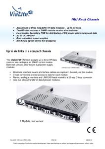 ETC Sensor Touring Rack User Manual