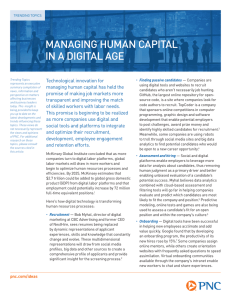 MANAGING HUMAN CAPITAL IN A DIGITAL AGE