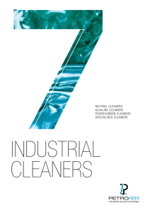 NEUTRAL CLEANERS ALKALINE CLEANERS HYDROCARBON