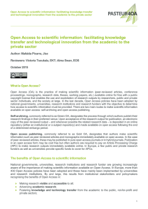 Open Access to scientific information: facilitating knowledge transfer