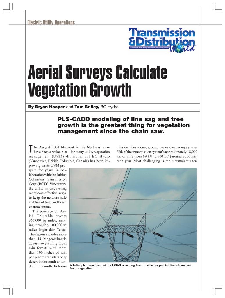 Aerial Surveys Calculate Vegetation Growth