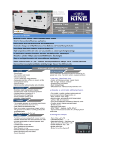kVA kVA 16.5 15 230/400 Yes Standby Power Voltage ISO Certified