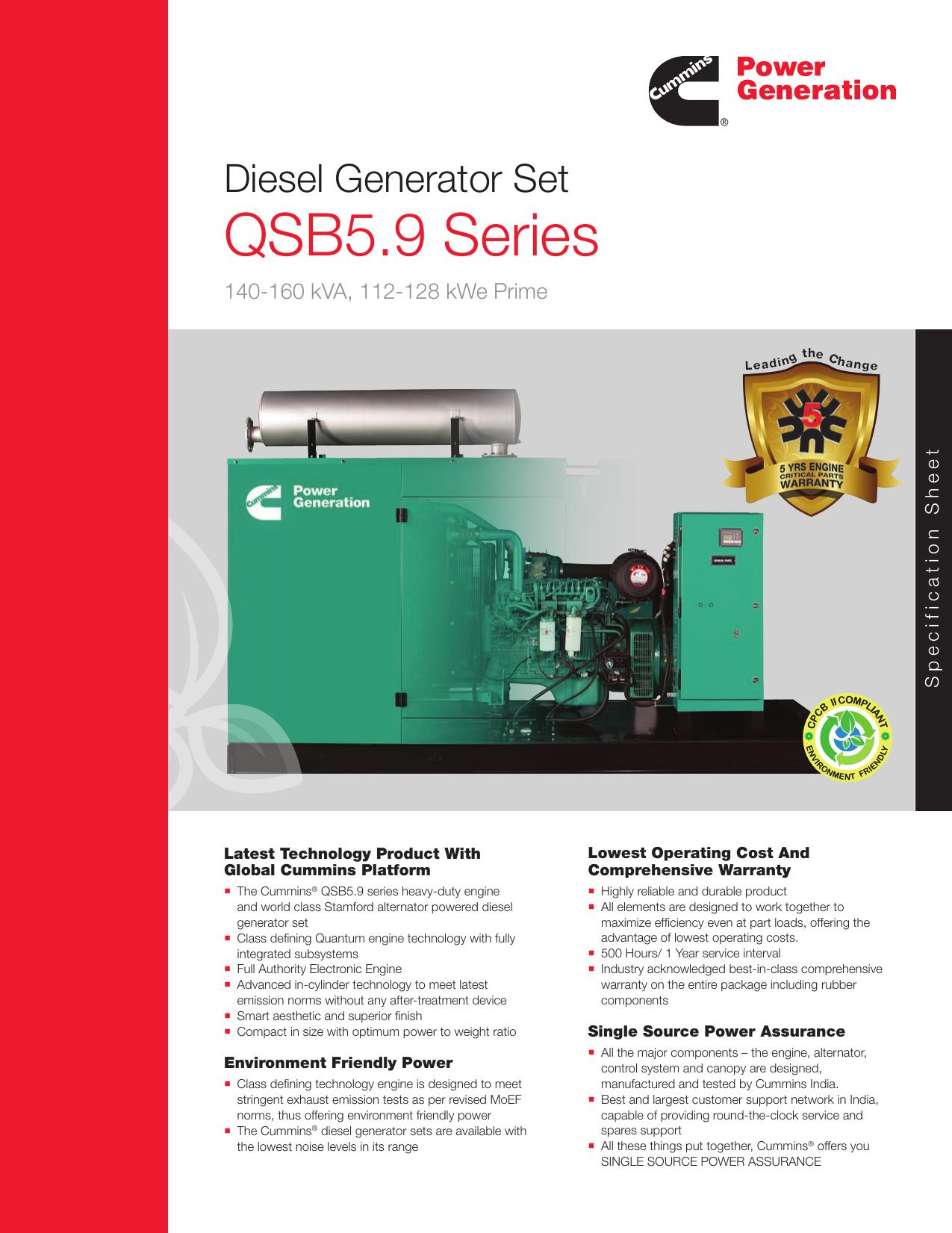 QSB5 9 Series Cummins in India