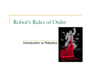 Robot`s Rules of Order