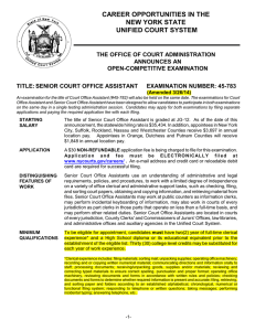 Senior Court Office Assistant - New York State Unified Court System