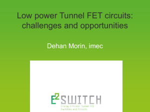 Low power Tunnel FET circuits: challenges and