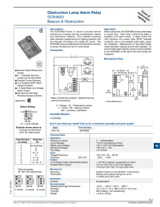 Obstruction Lamp Alarm Relay SCR490D Beacon