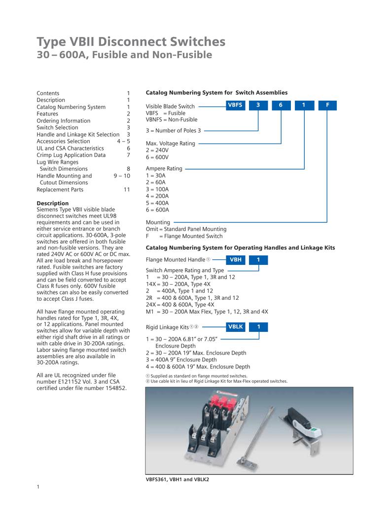 Datasheet Wiring Numbering System