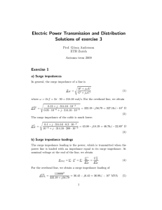 Electric Power Transmission and Distribution Solutions of exercise 3
