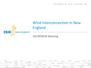 Agenda and ISO New England Presentation