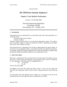 EE 330 Power System Analyses I