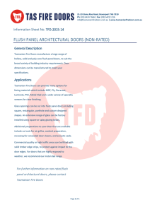 flush panel architectural doors (non-rated)