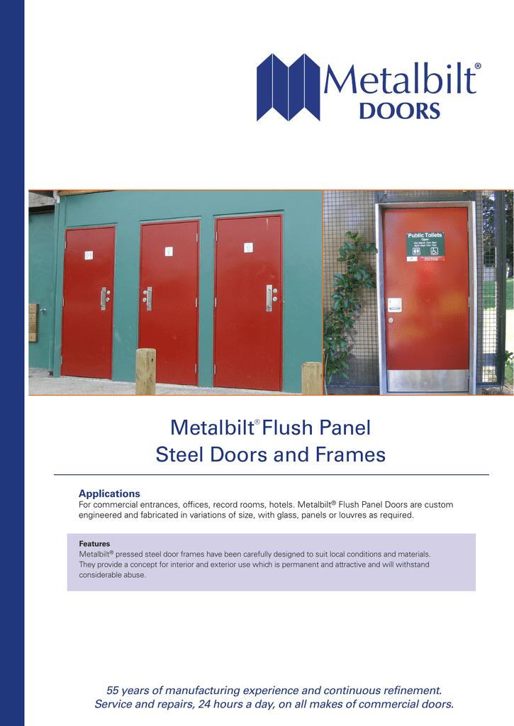 Metalbilt Flush Panel Steel Doors And Frames