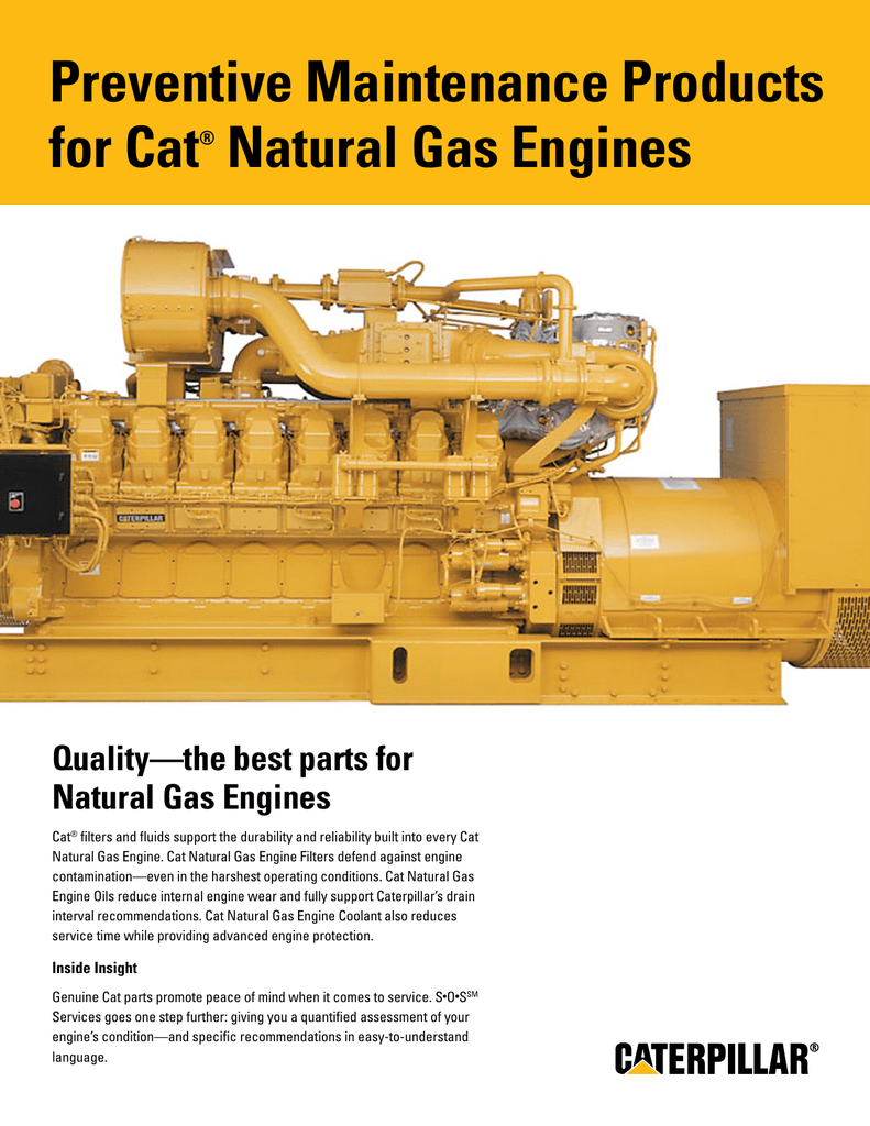 Products that are available to keep your Cat Natural Gas Engine up