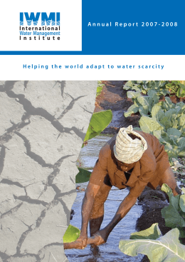 IWMI Annual report 2007-2008 - International Water Management