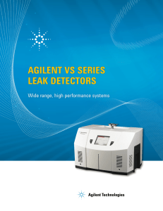 agilent vs series leak detectors