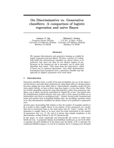 On Discriminative vs. Generative Classifiers: A