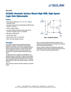 OLS500: Hermetic Surface Mount High CMR, High