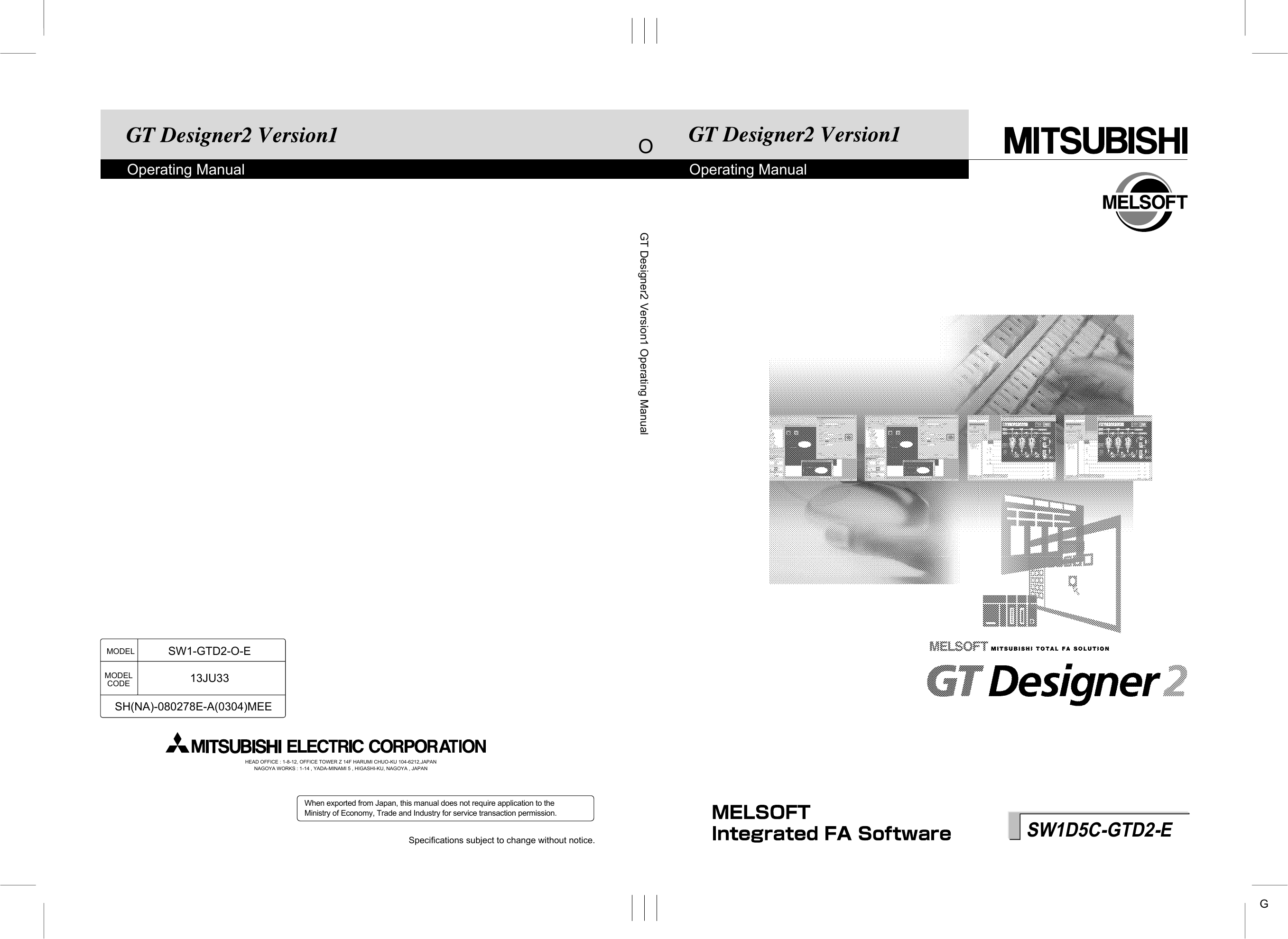 GT Designer2 Version1 Operating Manual