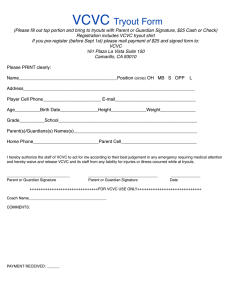VCVC Tryout Form
