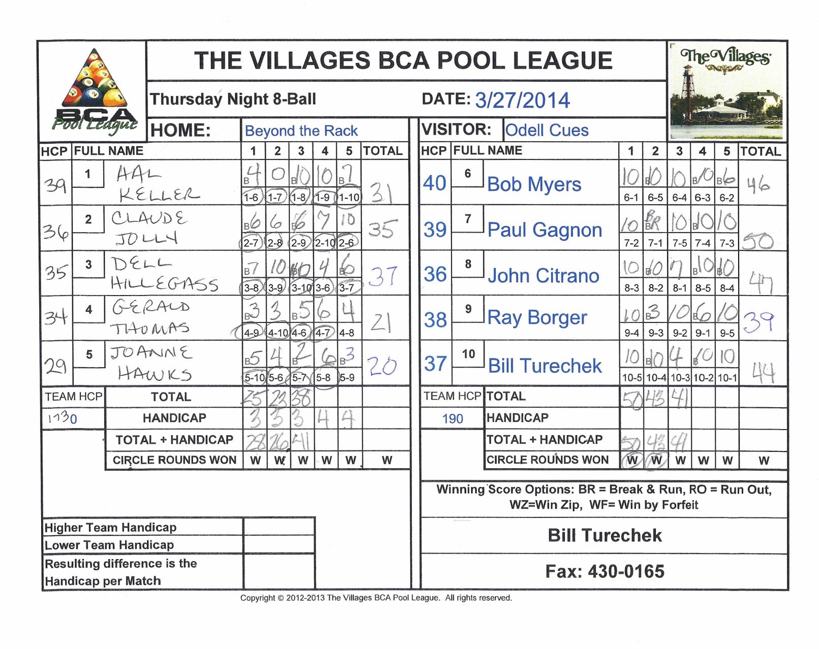 1 - BCA Pool League