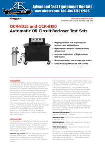 OCR-8015 and OCR-9150 Automatic Oil Circuit Recloser Test Sets