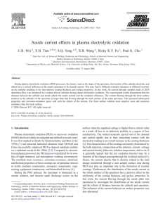 Anode current effects in plasma electrolytic oxidation