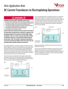DC Current Transducers in Electroplating Operations