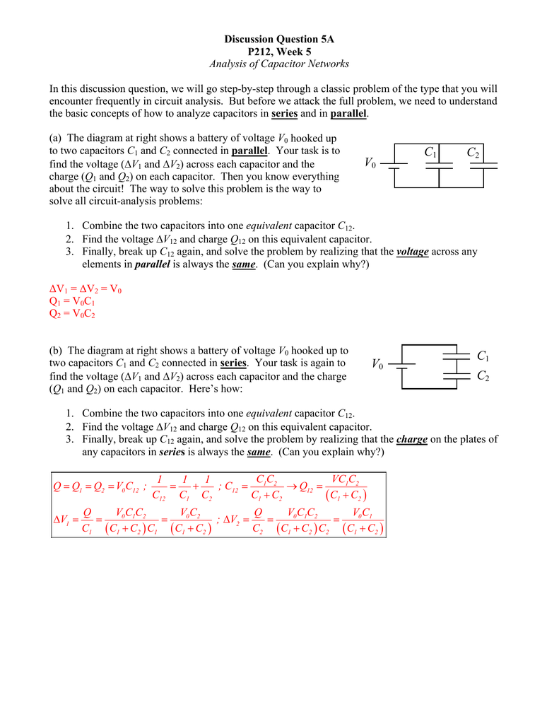 Discussion Question 5a Solving Problems In Series Parallel Circuits Requires