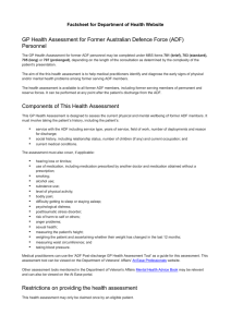 GP Health Assessment for Former Australian Defence Force (ADF