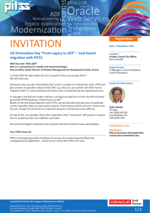 Invitation for the UK Oracle ADF Orientation Day
