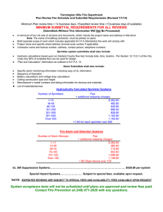 Farmington Hills Fire Department Plan Review Fee Schedule and
