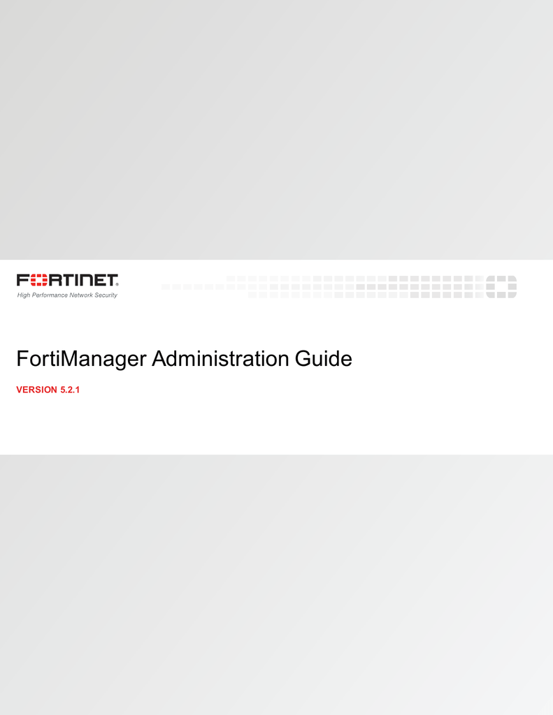 FortiManager Administration Guide