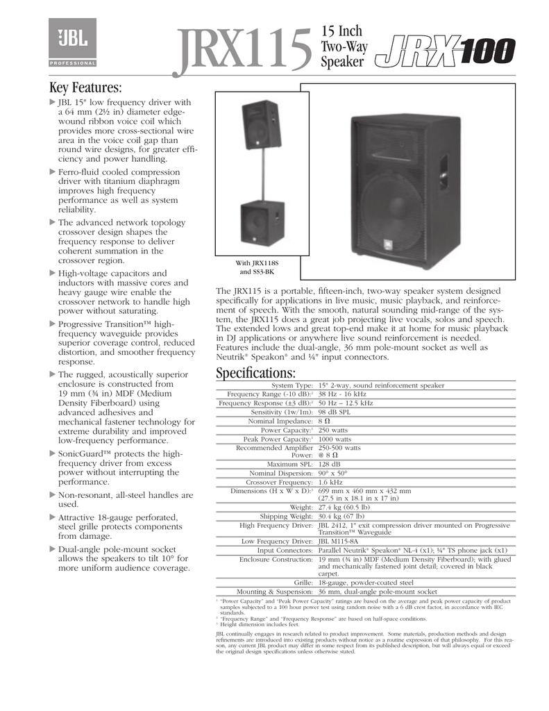 JRX115 - JBL Professional