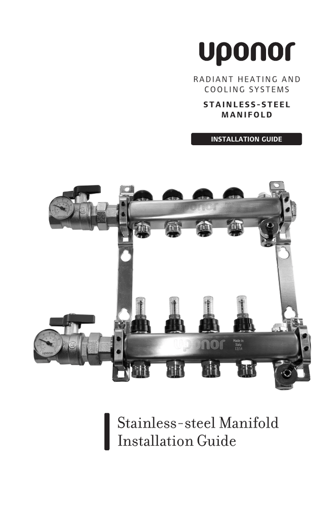 Stainless-steel Manifold Installation Guide