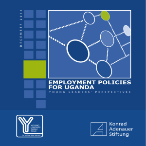 Employment Policies for Uganda: Young Leaders` Perspectives