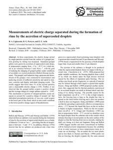 Measurements of electric charge separated during the formation of
