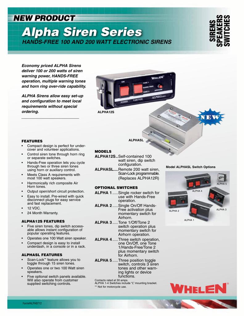 Alpha Siren Series Electronic 1
