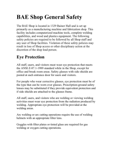 BAE Shop General Safety