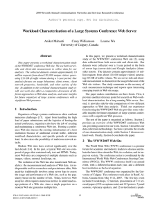 Workload Characterization of a Large Systems Conference Web