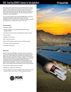 NUAL® Brand ACWU90 2C for Solar Data Sheet