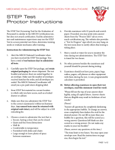 STEP Test Proctor Instructions