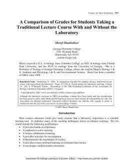 A Comparison of Grades for Students Taking a Traditional Lecture