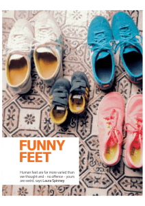 Funny Feet (New Scientist 2015, January)