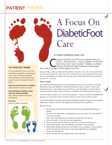 A Focus On Diabetic Foot Care