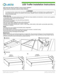 LED Torffer Installation Instructions